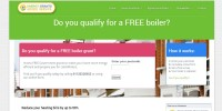 Website designed for EGAS Free Boiler Scheme, Bradford