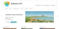 Website designed for Saltaire Art, Saltaire, Bradford