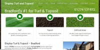 Website designed for Shipley Turf and Topsoil, Bradford