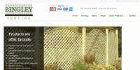 Website designed for Bingley Fencing
