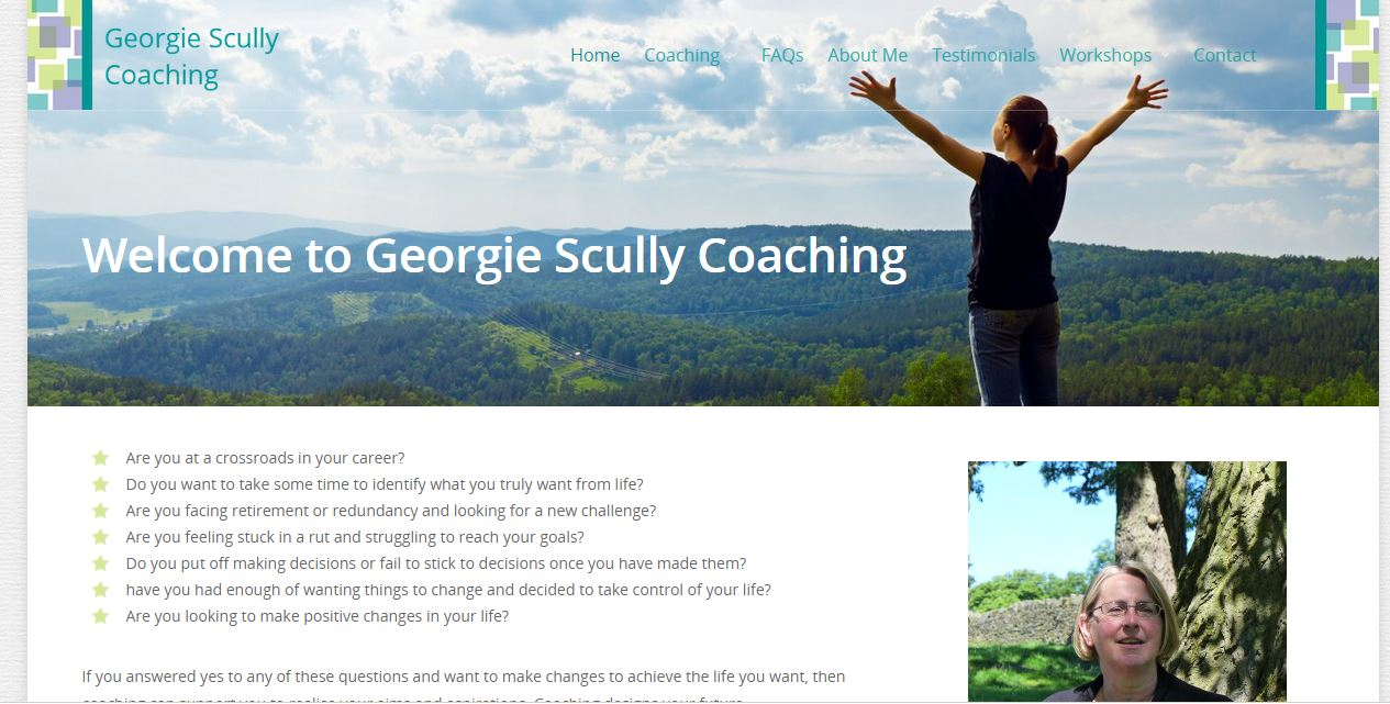 Georgie Scully Coaching Saltaire Web Design