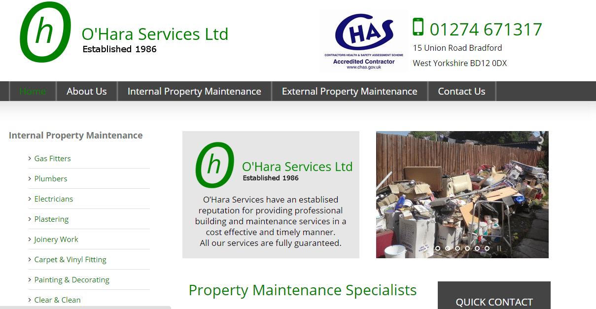 New website for O'Hara Services