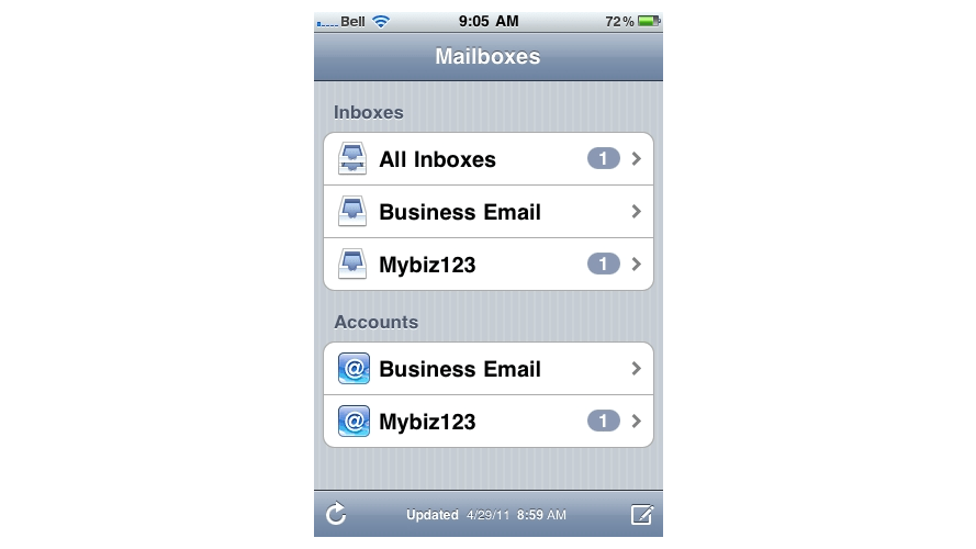 Add Roundcube Email Account to your iPhone - Saltaire Web Design
