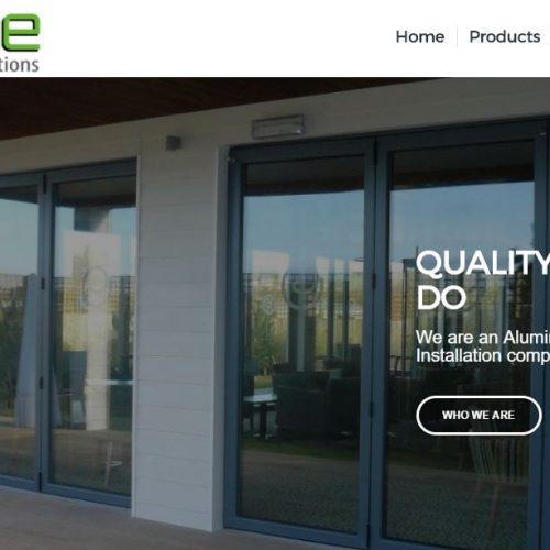 website designed for aluframe