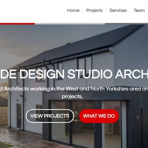 website for Architects in Saltaire, Bradford
